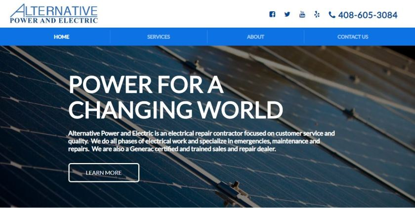 Alternative Electric website